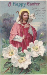 EASTER, PU-1911; Jesus Christ with lamb on his shoulder holding shepard's sta...