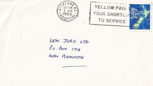 Auckland Hospital New Zealand 1985 Frank Postmark Envelope