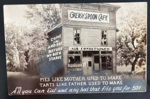 Mint USA Real Picture Postcard Greasy Spoon Cafe All You Can eat