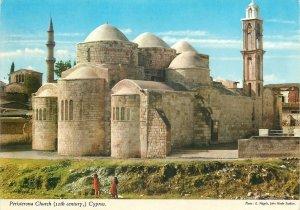 Postcard Cyprus Peristerona Church