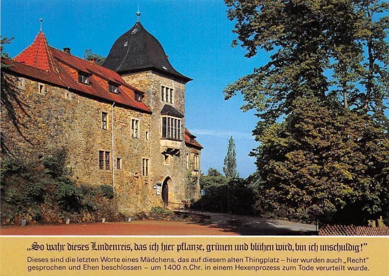 Carte Linde.Wesergebirge Torturm Des Schaumburg Mit Amtshaus Und Linde