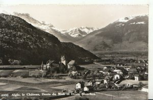 Switzerland Postcard - Aigle - Le Chateau - Dents Du Midi Et Dents - Ref TZ6457