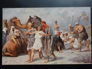 Religious: JOSEPH SOLD TO THE ISHMEELITES Holy Scripture, Old PC by Misch & Co
