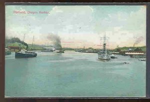pc9871 postcard Portland Oregon Harbor postally used 1909 AYPE