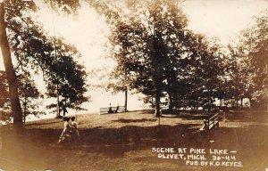 LPM35 Olivet Pine Lake   Michigan RPPC Postcard