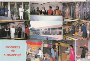 Pioneers Of Singapore Waxworks Museum Postcard