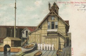 CHICAGO, Illinois, 1907 ; Life Saving Station