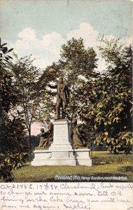 Cleveland Ohio 1910 Postcard Harvey Rice Monument Wade Park