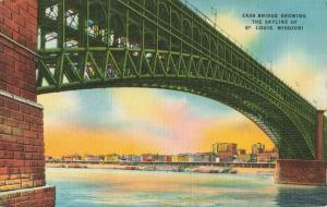 Postcard St Louis EADs bridge and Skyline Missouri Unposted
