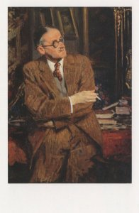 James Joyce Irish Book Author Rare 1935 Painting Postcard