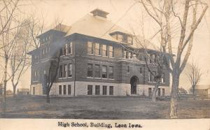 Leon Iowa~High School Building~Farm Barns~Houses~1905 Real Photo Postcard~RPPC