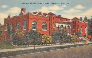 Pocatello Idaho~Bannock County Memorial Building~Memorial to War Veterans~1940s