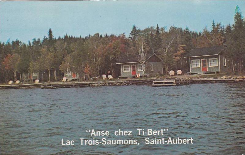 Anse chez Ti-bert Lac Trois-Saumons, Saint-Aubert, Quebec, Canada, PU-1969