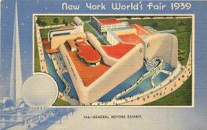Birdseye General Motors Exhibit 1939 New York World's Fair 1939 Postcard 11056