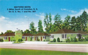CAMDEN , South Carolina, 50-60s ; Mayview Motel, U.S. No. 1 & U.S. 601