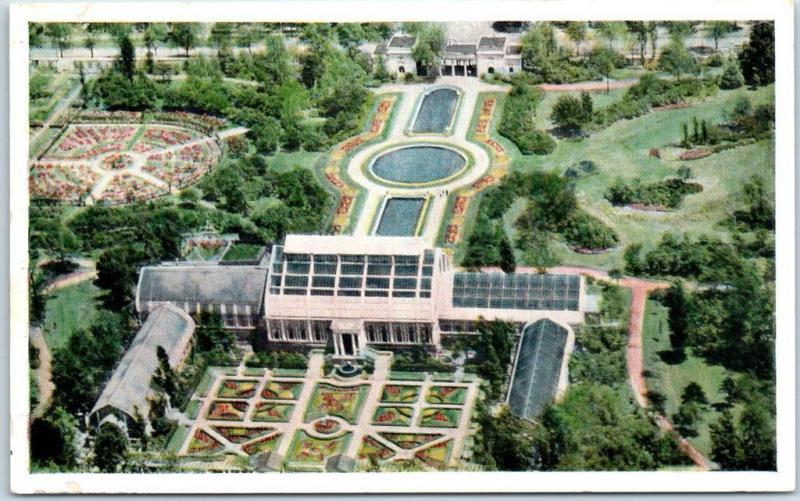 St. Louis, MO Postcard MISSOURI BOTANICAL GARDEN Artist\'s Aerial ...