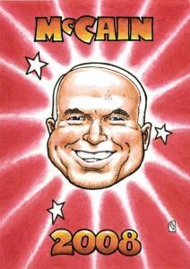 Caricature Republican Nominee U.S. Presidential Election 2008 John McCain