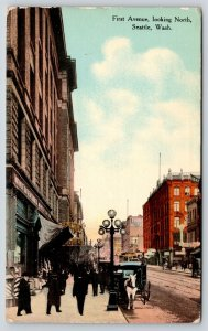 Seattle Washington~Fifth Avenue~Trust Co~Drug Store~Billiards~White Horse~1911
