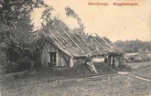 Herrljunga Ryggåsstugan Sweden 1910 Vintage Postcard