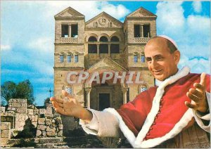Postcard Modern Satillana del mar (santander) Regina Coeli church