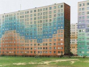 Rzeszow Poland Giant House Block Of Flats Polish Photo Award Postcard