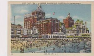 New Jersey Atlantic City Ocean Front View Of Shelburne Claridge And Marlborou...