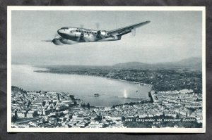 5242 - SWITZERLAND 1950s Air France Airplane over Geneve