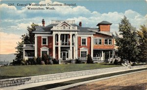 G33/ Wenatchee Washington Postcard c1910 Central Wash. Deaconess Hospital