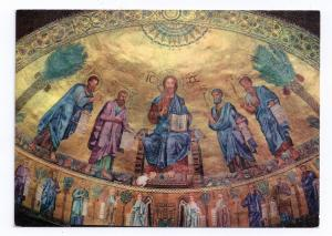 Italy Rome St Pauls Basilica Paolo Church Apse Mosaic 4X6