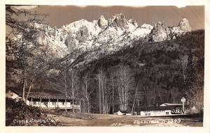 Castle Crags California~Meats & Groceries~Store~Beer & Wines~1940s RPPC