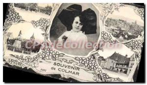 Old Postcard Souvenir De Colmar
