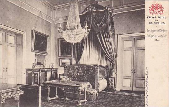Belgium Brussels La Chambre a coucher Palais Royal de Bruxelles ...