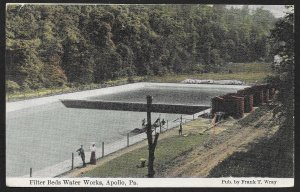 Filter Beds Water Works Apollo Pennsylvania Used c1909
