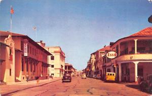 Panama Old Vintage Antique Post Card Bolivar Avenue Colon Unused