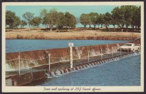 Dam and Spillway,LBJ Ranch House,TX Postcard BIN