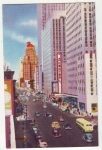 P1145 old postcard busy traffic etc avenue of the americas 6th ave new york city