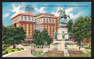 Richmond VA - Hotel Richmond and Washington Monument
