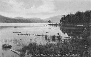 Lake Placid New York Scenic Waterfront Antique Postcard K98543