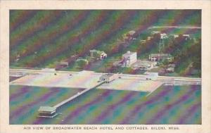Mississippi Biloxi Air View Of Broadwater Beach Hotel and Cottages 1952