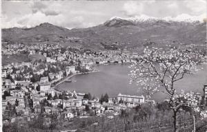 Switzerland Lugano Panorama 1960 Photo