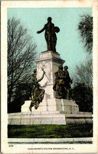 Vtg 1909 Lafayette's Statue Washington DC Postcard