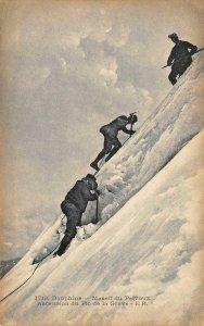 Dauphine Massif du Pelvoux Ascension du Pic de la Grave c1910s Vintage Postcard