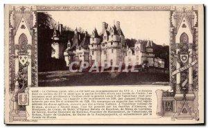 Old Postcard Chateau Usse
