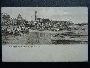 Essex SOUTHEND ON SEA East Beach shows CHAMPION LIFEBOAT c1904 Postcard