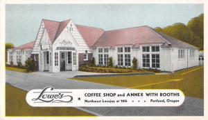 Portland Oregon Lowes Coffee Shop and Annex Antique Postcard J62051