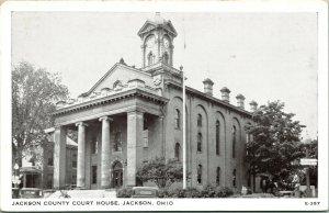 Vtg Postcard 1940s - Jackson County Court House - Jackson Ohio OH - Unused