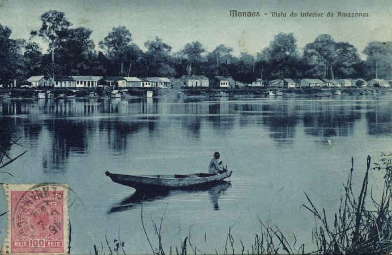 brazil, MANAOS MANAUS, Vista do Interior do Amazonas (1919) Stamp