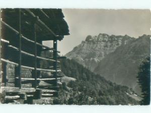 old rppc DENT DE MORCLES MOUNTAIN Near Martigny & St. Maurice Switzerland i2349