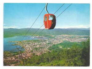 Mo i rana Norway View with the Cable Car 4X6 Postcard Chrome