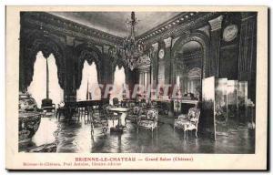 Old Postcard Brienne le Chateau Grand castle lounge